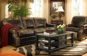 Furniture Rustic Leather Sectional For Sale Furniture San