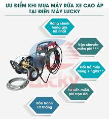 Máy rửa xe cao áp Lucky -Máy xịt rửa ô tô dành cho Tiệm rửa và trạm rửa