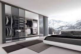 modern closet design with mirror