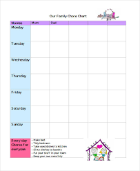 Make Your Own Responsibility Chart 9 Chore Chart Templates In Pdf Free Premium Templates