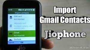 jio phone import gmail contacts