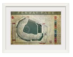 Vintage Fenway Park Seating Chart Print Or Canvas Vintage Fenway Park Seating Schematic Red Sox Wall Art Fenway Park Print Ships Free
