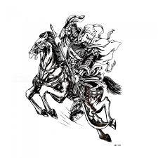 Hb 102 Netoxické Voděodolné Dámské Muži Teen China Je Styl Kůň Vzor Dočasné Tetování Nálepka