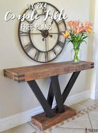 console sofa tables table rustic sofa table plans rustic half moon console table unfinished console