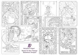Small Picture New Vintage Halloween Art Downloadable Adult Coloring Pages
