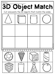 Kindergarten 2D And 3D Shapes Worksheets Kindergarten Pinterest ...