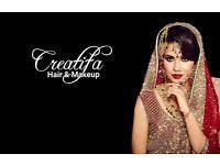 creatifa hair makeup artist lubna rafiq pro artist for asian bridal special occasions