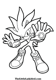 gallery image of genuine silver the hedgehog coloring pages sonic from super