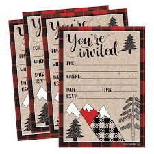 Snowflake Birthday Invitations 25 Woodland Party Invitations Winter Bridal Or Baby Shower Invite Holiday Snowflake Birthday Invitation Wedding Rehearsal Dinner Invites