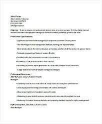 Resume For Managerial Position Grocery Store Manager Resume 2 Resume For Manager Position