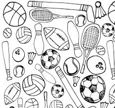 These printable coloring pages are great for: Printable Sports Coloring Page Etsy