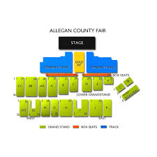 Allegany County Fair Seating Chart Allegan County Fair 2019 Seating Chart