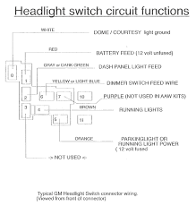 chevy fuse box diagram gm headlight switch circuit functions american autowire gm headlight switch circuit functions