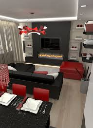 red black home office. 85 Excellent Red Living Room Decor Home Design Black Office