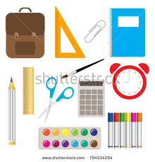 colorful office accessories. School Supplies Learning Equipment And Different Colorful Office Accessories. Accessories U
