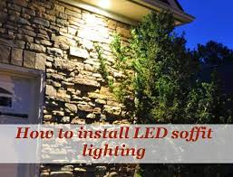 how to install led soffit lights under