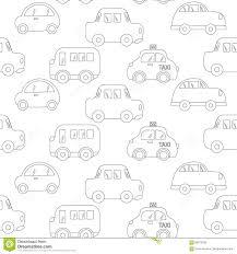 Autos Op Asfalt Autos Die Op Grijze Achtergrond Trekken Naadloos