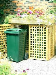 outdoor trash can storage outdoor garbage can storage bin outdoor garbage storage costco