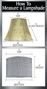 how to measure lamp shades 8 cotton drum lamp shade made to order glass lamp shades