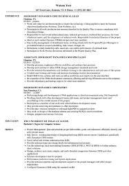 Sample Resume For Microsoft Dynamics Crm Microsoft Dynamics CRM Resume Samples Velvet Jobs 1