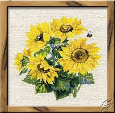 Bouquet Of Sunflowers Cross Stitch Kits By Riolis 776