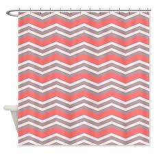 salmon shower curtain zigzag 2 salmon shower curtain jpg