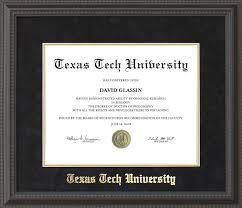 texas tech diploma frame black suede mat gold embossing  texas tech diploma frame black suede mat gold embossing