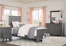picture of Lyla Charcoal 5 Pc Full Panel Bedroom from Teen Bedroom ...
