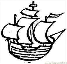 old little ship coloring page