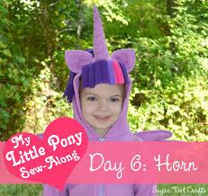 my little pony costume sew along day 6 unicorn horn