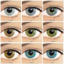 Contact Lenses Colour Chart What You Should Know Before Using Colored Contact Lenses