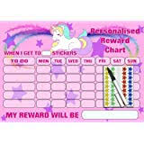 Unicorn Star Chart Happy Learners Rainbow Unicorn Potty Reward Sticker Chart