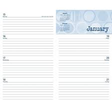 monthly weekly calendar booktopia posh denim dots 2017 2018 monthly weekly planning
