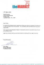 market thankyou letter
