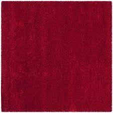 Safavieh California Shag Red Square Indoor Area Rug (Common: 4 x 4; Actual