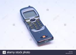 Old Nokia 7110 mobile phone with flip ...