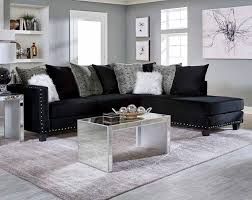 black sectional sofa. Contemporary Black Jet Black 2 PC Sectional Sofa Inside V