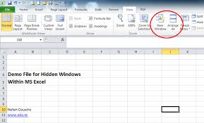Ms Excel How To Fix Troubles Caused By Hidden Windows In Ms Excel Spreadsheet