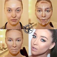 contouring face