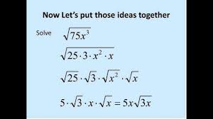 square roots with variables simplifying math