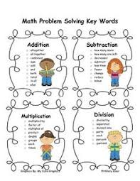 Math Word Problem Key Words Chart 27 Best Math Key Words Images Math Math Key Words 3rd