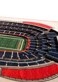 denver broncos 5 layer stadiumviews 3d wall art 2