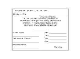 Bill Formats In Word Limo Receipt Template