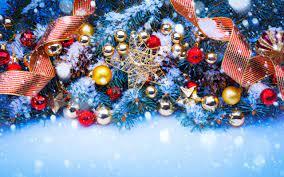 snow, Christmas Ornaments, Ribbon, Pine ...
