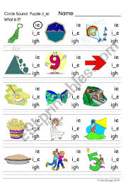 Phonics is a method for teaching reading and writing of the english language by developing learners' phonemic awareness—the ability to hear, identify, and manipulate phonemes—in order to teach the correspondence between these sounds and the spelling. Circle Sound Puzzle 6 Phonics The I E Sound Esl Worksheet By David Lisgo
