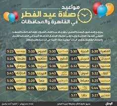 موعد صلاة عيد الفطر 2015 صلاة العيد فى كل المحافظات