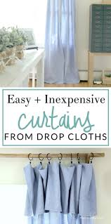 Diy Drop Cloth Curtains Best 25 Drop Cloth Curtains Ideas On Pinterest Drop Cloth