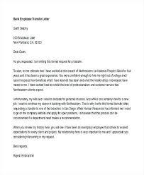 Transfer Letter Format For Bank Employee 12 Employee Transfer Letter