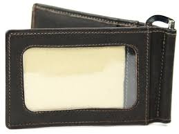 bifold wallet with money clip and id window
