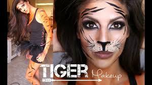 tiger makeup tutorial outfit 2016